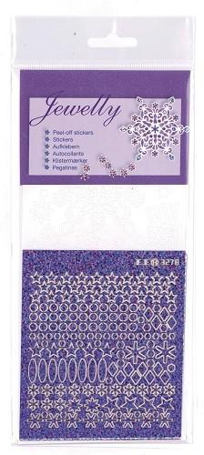 JeJe: Peel-off stickers; Lace snowflakes