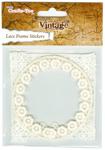 Crafts-Too: Vintage Selection; Lace Frame Sticker, Round