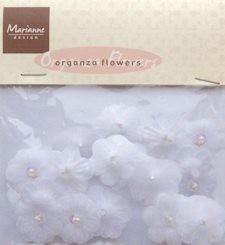 MD: Organza Flowers; White