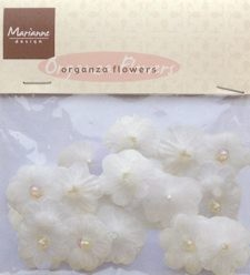 MD: Organza Flowers; Off White