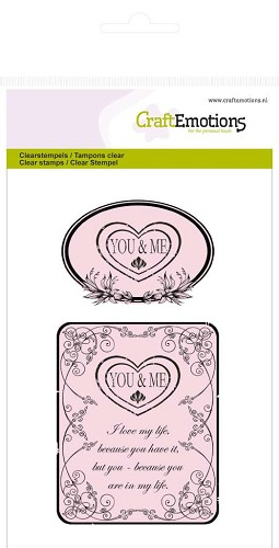 CraftEmotions: Clear Stamp A6; Botanical, You & Me