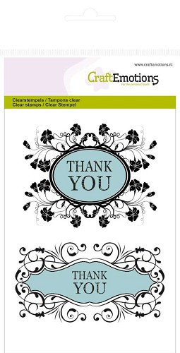 CraftEmotions: Clear Stamp A6; Botanical, Thank You