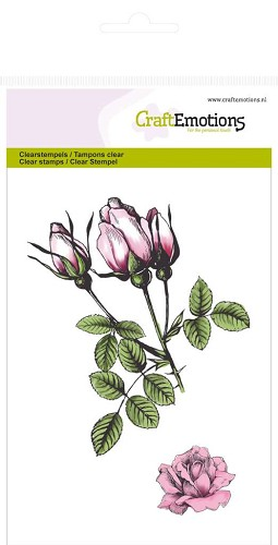 CraftEmotions: Clear Stamp A6; Botanical, Rozen knoppen