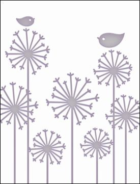 Couture Creations: Embossing folder; Persuasions Blooms