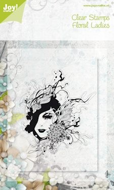 Joy!: Clear stamp; Floral Lady 2