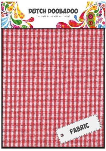 Dutch Doobadoo:  Textile - Red Check