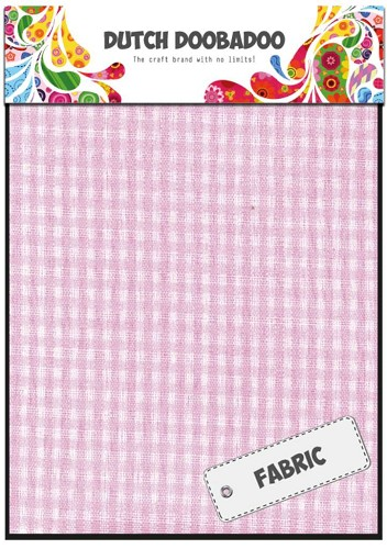 Dutch Doobadoo:  Textile - Pink Check
