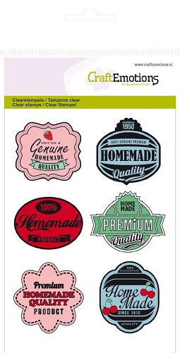 CraftEmotions: Clear Stamp A6; Fifties Kitchen labels