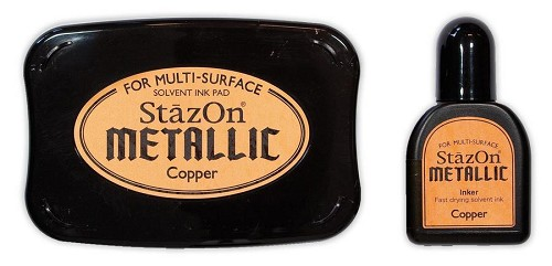 StazOn: Ink pad set; Opaque Metallic, Copper