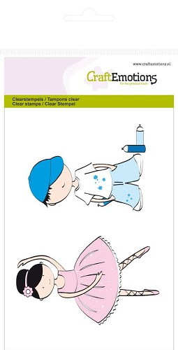 CraftEmotions: Clear Stamp A6; Boy and Girl