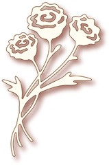 Wild Rose: Speciality Die; Rose Bunch