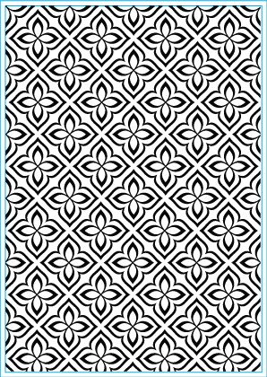 Elizabeth Craft Design: Embossing Folder; Flower Mosaic
