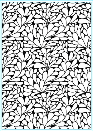 Elizabeth Craft Design: Embossing Folder; Swirly Curves Round