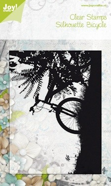 Joy!: Clear stamp; bicycle on sunset