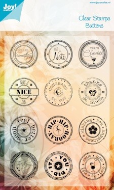 Joy!: Clear stamp; Buttons ENG
