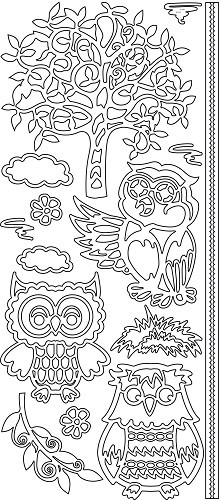 JeJe sticker:  Owls Tree