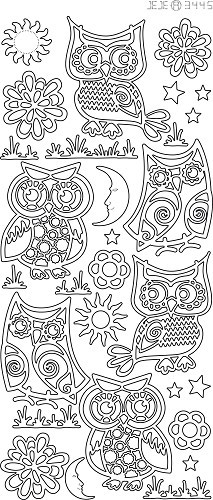 JeJe sticker:  Various Owls