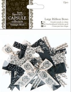 DC: 12 x Large Ribbon Bows; Midnight Blush