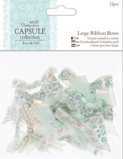 DC: 12 x Large Ribbon Bows; Eau de Nil