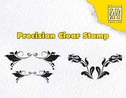 NS: Clear Stamps; Leaves and double tulips