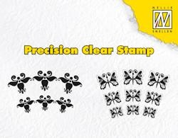 NS: Clear Stamps; Lyre flower ans butterfly
