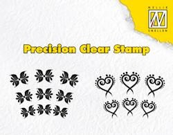 NS: Clear Stamps; exotic flower and heart