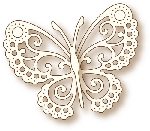Wild Rose Studio Craft Dies: Butterfly Lace