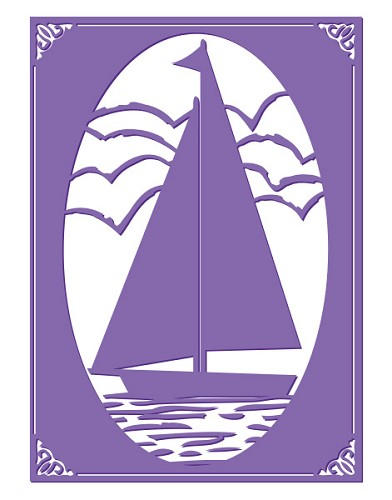 Couture Creations: Emb. Folder; Sail Away