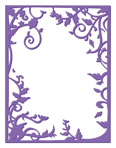 Couture Creations: Emb. Folder; Vine Frame