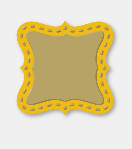 Couture Creations: Die; Square Plaque