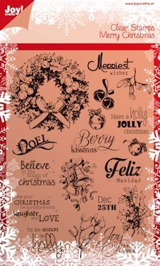 Joy!: Clear stamp; Merry Christmas