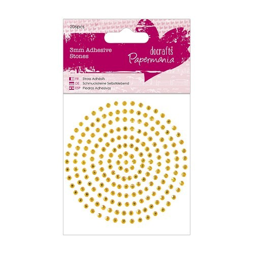 PMA: 3 mm Adhesive Stones (206 pcs); Gold