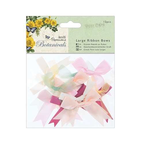 DC: Large Ribbon Bows 12 pcs; Botanicals