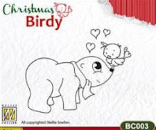 NS: Clear Stamp; Christmas Birdy, I love You