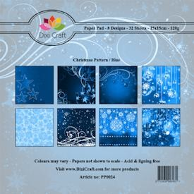 Dixi Paper Pack 15x15 cm Christmas pattern: Blue