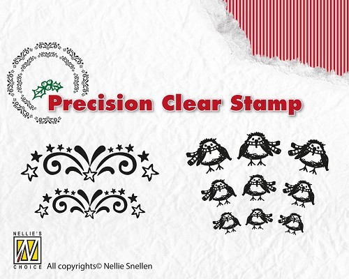 NS: Precision Clear Stamp; Starburst - Robin