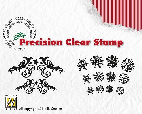 NS: Precision Clear Stamp; Flowerswirls - Snowflakes