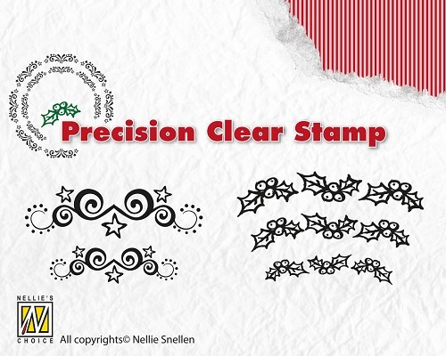 NS: Precision Clear Stamp; Starswirls - Holly