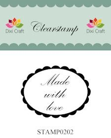 Dixi Clear Stamp: Made with love