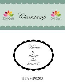 Dixi Clear Stamp: Home is where the heart is