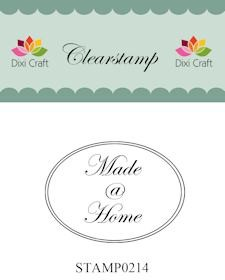 Dixi Clear Stamp: Made @ Home