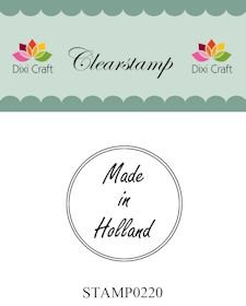 Dixi Clear Stamp: Made in Holland