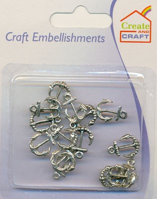 Create & Craft Embellishments: anker-anchor zilver