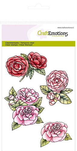 Craft Emotions: Clearstamp A6; High Tea Rose, Rozen
