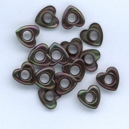 H&C: eyelet; Heart 10 mm, 15 stuks black