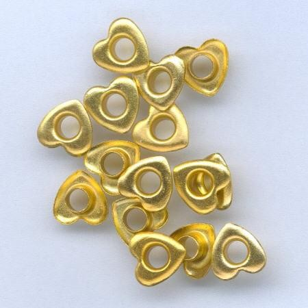 H&C: eyelet; Heart 10 mm, 15 stuks gold