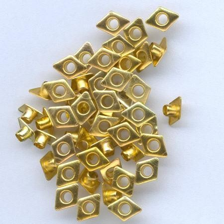 H&C: eyelet; Diamond 6 x 8 mm, 50 stuks gold
