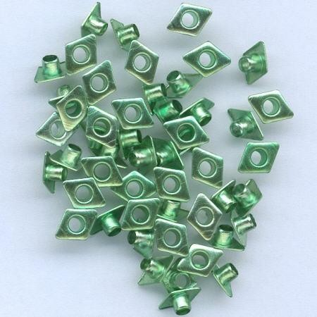 H&C: eyelet; Diamond 6 x 8 mm, 50 stuks green