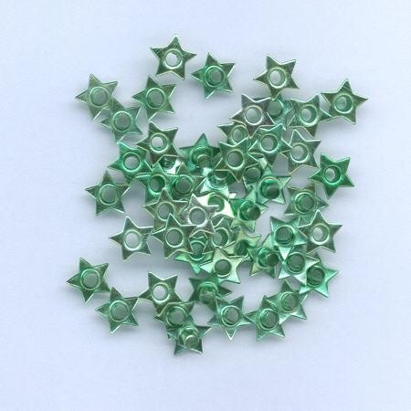 H&C: eyelet; Star 8 mm, 50 stuks green