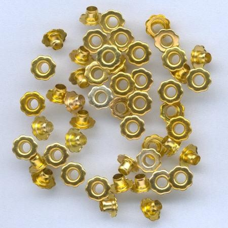 H&C: eyelet; Flower 6 mm, 50 stuks gold